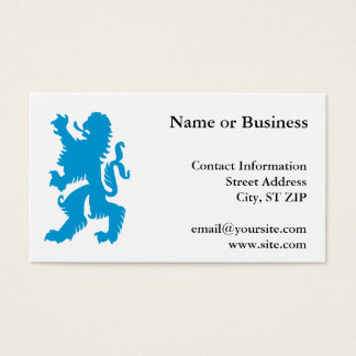 Azure Bavarian Lion Business Card