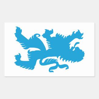 Azure Bavarian Lion Sticker