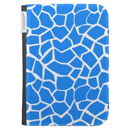 Azure Blue Giraffe Animal Print Kindle 3G Cover