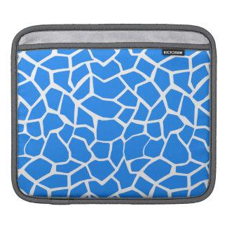 Azure Blue Giraffe Animal Print iPad Sleeve