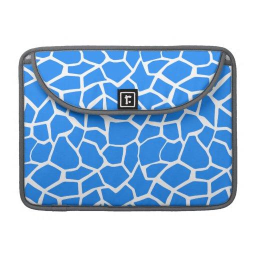 Azure Blue Giraffe Animal Print Sleeves For MacBooks