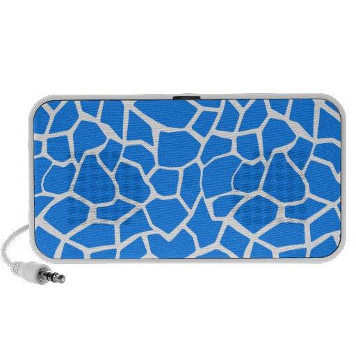 Azure Blue Giraffe Animal Print Travelling Speakers