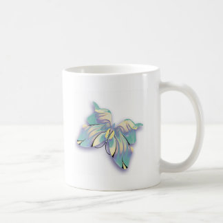azure butterfly coffee mug