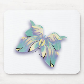 azure butterfly mouse pad