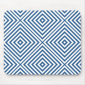 Azure Diamond Chevron Mouse Pad