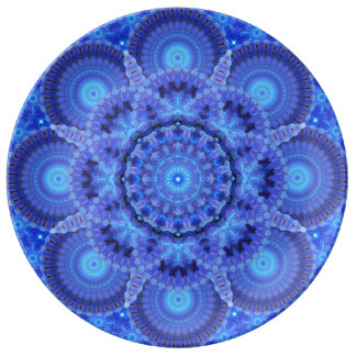 Azure Harmony Mandala Porcelain Plate