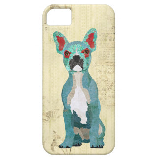 Azure Ornate French Bull Dog iPhone Case