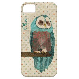 Azure Owl Vintage iPhone Case