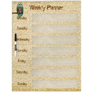 Azure Owl Weekly Planner Dry Erase Board