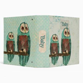 Azure Owls Baby Book Vinyl Binders
