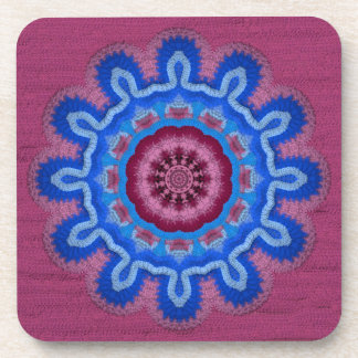 Azure Rose Crochet 2 Drink Coaster