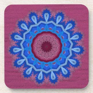 Azure Rose Crochet 3 Drink Coasters