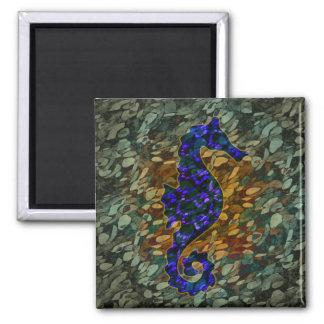 Azure Sea Horse Magnet