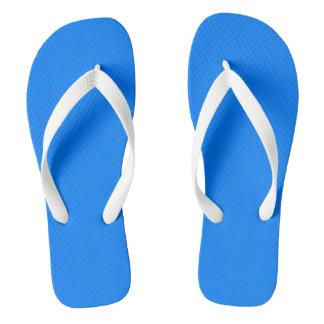 Azure Solid Colour Customize It Flip Flops
