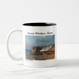 Azure Window, Gozo Two-Tone Coffee Mug