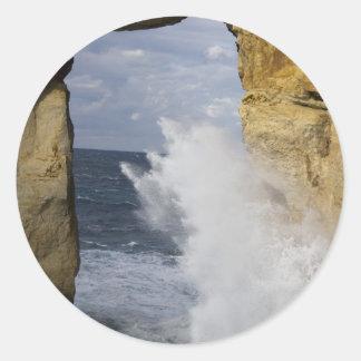 Azure Window Round Sticker