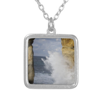 Azure Window Silver Plated Necklace