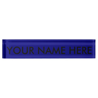AZURITE (a solid rich blue color) ~ Name Plates