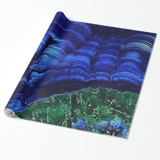 Azurite and Malachite Wrapping Paper