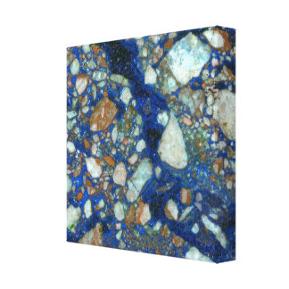 Azurite Brecchia Wrapped Canvas Print