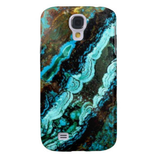 Azurite Malachite Gemstone Galaxy S4 Case
