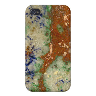 Azurite Malachite geode iPhone 4/4S Case