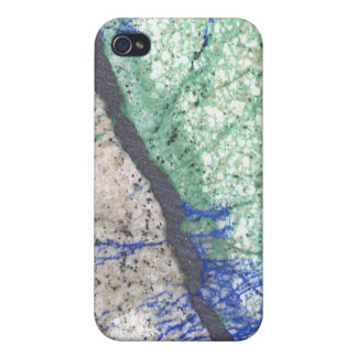 Azurite Malachite Stone Case For iPhone 4