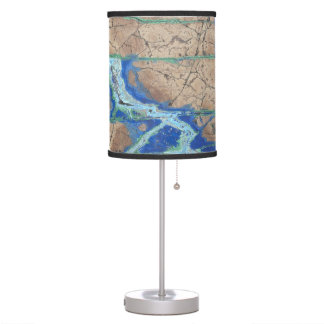 Azurite Malachite Stone Table Lamp