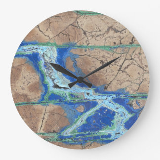 Azurite Malachite Stone Wall Clock