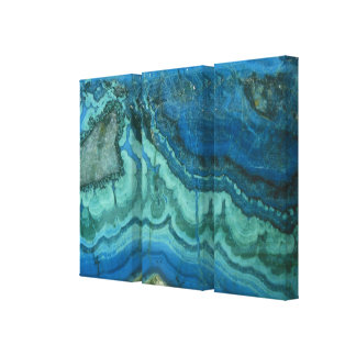 Azurite Malachite Wrapped Canvas Print