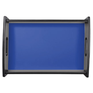 Azurite Royal Blue Personalized Trend Background Food Trays