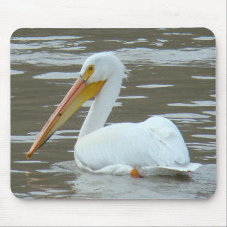 B0015 American White Pelican Mouse Pad