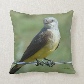 B0032 Western Kingbird Throw Pillow