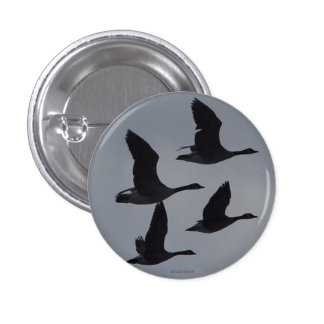B0046 Canadian Geese in Flight 1 Inch Round Button