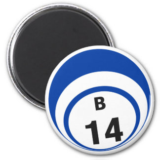 B14 bingo ball fridge magnet