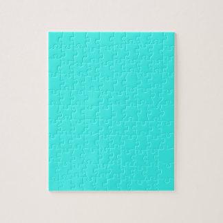 B14 Enthusiastic Aqua Blue Turquoise Color Jigsaw Puzzle