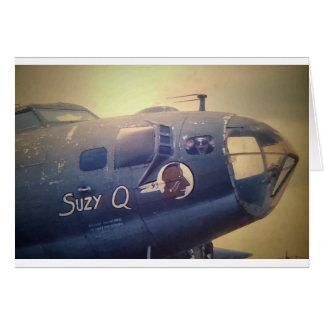 B17 Bomber Suzy Q Card