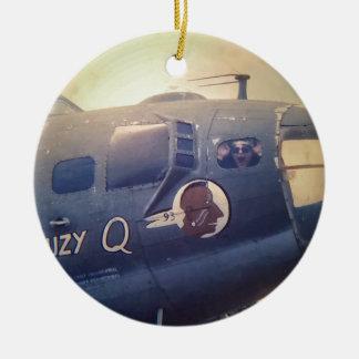 B17 Bomber Suzy Q Ceramic Ornament