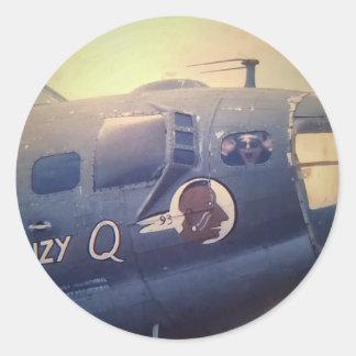 B17 Bomber Suzy Q Classic Round Sticker