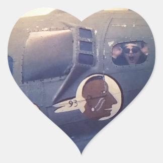 B17 Bomber Suzy Q Heart Sticker