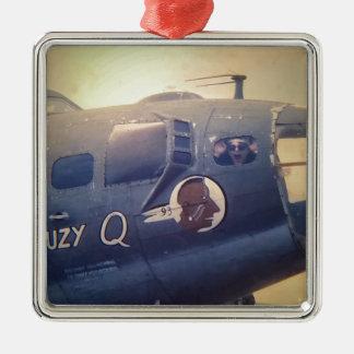 B17 Bomber Suzy Q Metal Ornament