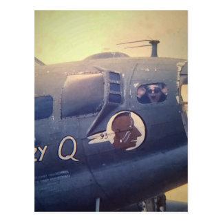 B17 Bomber Suzy Q Postcard