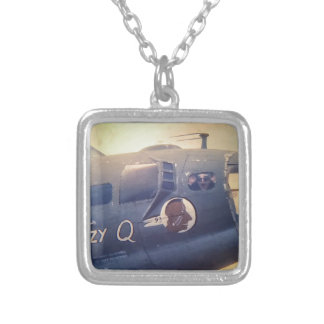 B17 Bomber Suzy Q Silver Plated Necklace