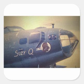 B17 Bomber Suzy Q Square Sticker