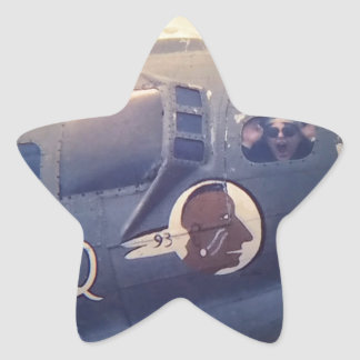 B17 Bomber Suzy Q Star Sticker