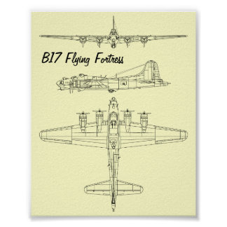 B17 Flying Fortress Poster