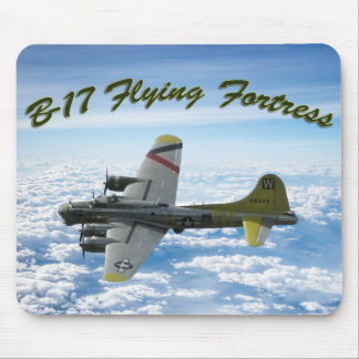B17 Flying Fortress WWII Bomber Airplane Mouse Pad