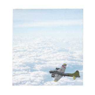 B17 Flying Fortress WWII Bomber Airplane Notepad