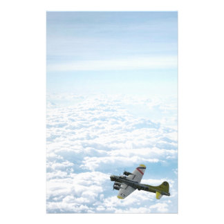 B17 Flying Fortress WWII Bomber Airplane Stationery