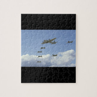 B17, Mustang, 5 T6's, In Formation_WWII Planes Puzzle